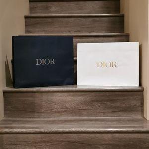 Blue Dior Shopping Bag